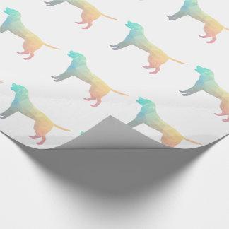 Papier Cadeau Silhouette de motif de labrador retriever Geo -