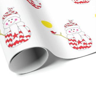 Papier Cadeau Simon le bonhomme de neige