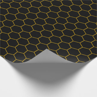 Papier Cadeau Simple honeycomb pattern with dark background