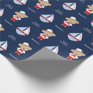 Papier Cadeau Singe adorable de marin