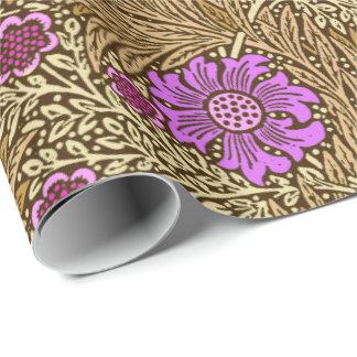 Papier Cadeau Souci, Brown, beige et violette de William Morris