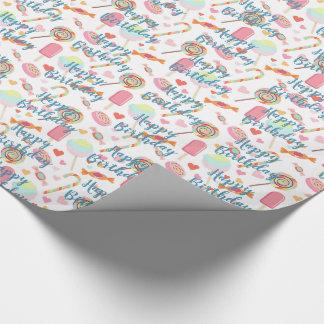 Papier Cadeau Souhait fait sur commande de joyeux anniversaire