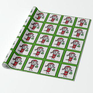 Papier Cadeau Souris de Noël