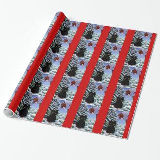 Papier Cadeau Souris drôle Creationarts de chat de Noël