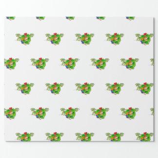 Papier Cadeau souris mignonne avec le papier d'emballage de houx