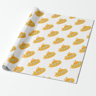 Papier Cadeau Sous-marin jaune