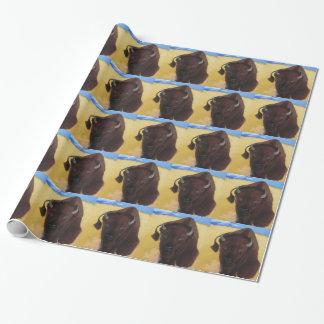 Papier Cadeau Soutenu de Buffalo de bison de tonnerre