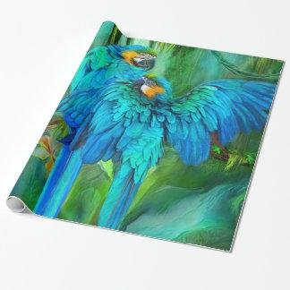 Papier Cadeau Spiritueux tropicaux - or et enveloppe de cadeau