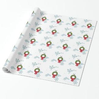Papier Cadeau Style de vacances de Noël d'amour de Bichon