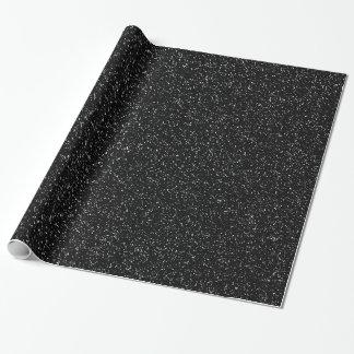 Papier Cadeau Style en pierre noir moderne - l'espace