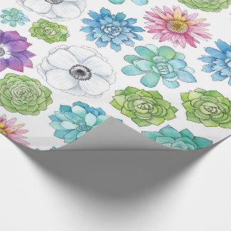 Papier Cadeau Succulents