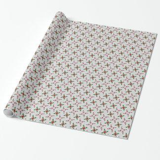 Papier Cadeau Sucres de canne et joli houx