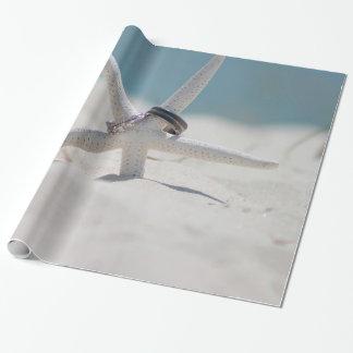 Papier Cadeau Suite coordonnée de thème de mariage de plage