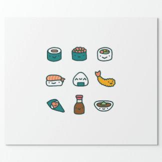 Papier Cadeau Sushi - aléatoires