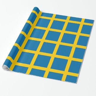 Papier Cadeau Sveriges Flagga - drapeau de la Suède - drapeau