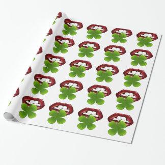 Papier Cadeau T-shirt irlandais chaud de cadeau de baiser