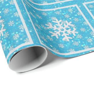 Papier Cadeau Tape-à-l'oeil bleus : Papier d'emballage de