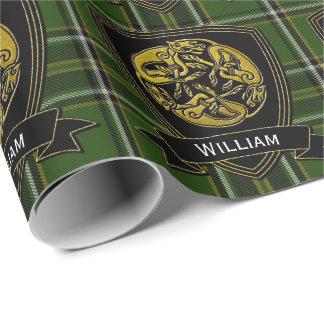 Papier Cadeau Tartan celtique d'Irlandais de symbole