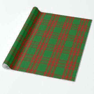 Papier Cadeau Tartan de vacances de Noël