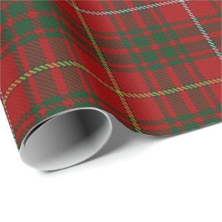 Papier Cadeau Tartan d'écossais de Bruce de clan