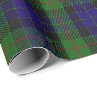 Papier Cadeau Tartan d'écossais de Gunn de clan