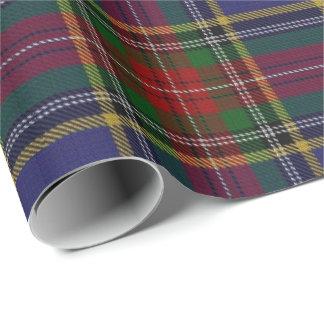 Papier Cadeau Tartan d'écossais de Macbeth de clan