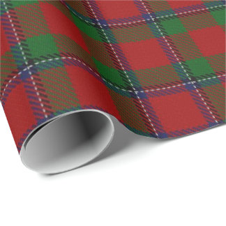 Papier Cadeau Tartan d'écossais de Sinclair de clan