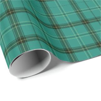 Papier Cadeau Tartan vert écossais