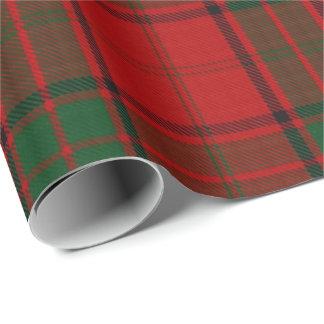 Papier Cadeau Tartan vert rouge écossais de Maxwell de clan