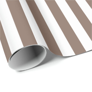 Papier Cadeau Taupe Brown/rayure blanche