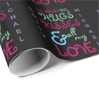 Papier Cadeau TEXTE génial moderne personnalisé 2 de Valentines