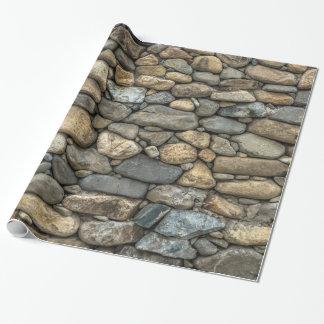 Papier Cadeau Texture de mur en pierre
