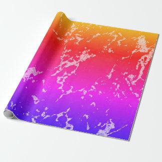 Papier Cadeau Texture en pierre de marbre colorée