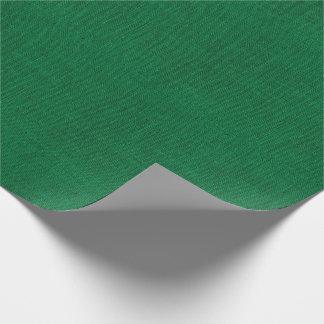 Papier Cadeau Texture verte de toile de jute de Noël