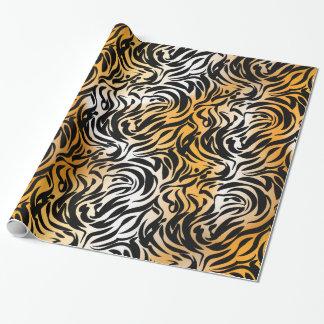 Papier Cadeau Tigre et zèbre exotiques de poster de animal