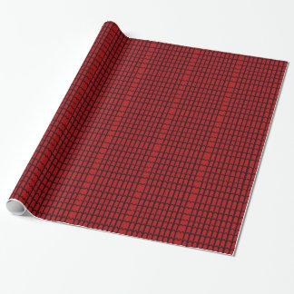 Papier Cadeau Toile d'araignée rouge