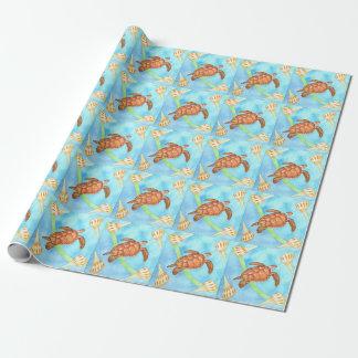 Papier Cadeau Tortue de mer hawaïenne