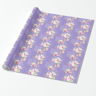 Papier Cadeau Tortues de mer sur le fond violet simple