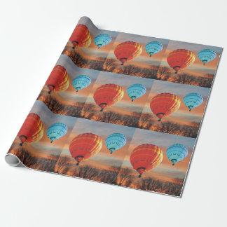 Papier Cadeau Tour chaud de ballon à air de lever de soleil