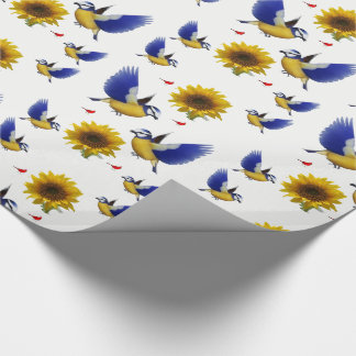Papier Cadeau Tournesol de papier d'emballage