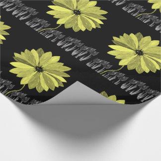 Papier Cadeau tournesols de papier d'emballage