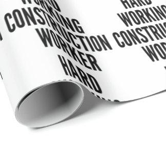 Papier Cadeau Travailleur de la construction travaillant dur