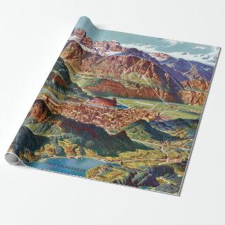 Papier Cadeau Trient vintage et la carte de l'Italie de