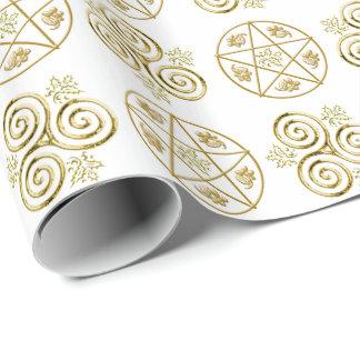 Papier Cadeau Triple-Spirale et pentagramme -1 - papier