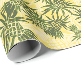 Papier Cadeau Tropical hawaïen de Camo d'ananas