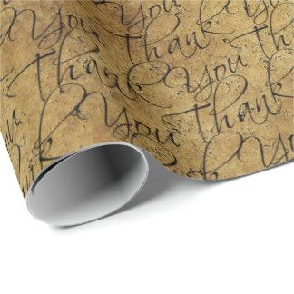 Papier Cadeau Typographie vintage - Merci