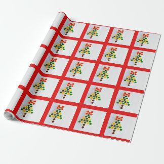 Papier Cadeau un arbre de Noël sur le papier d'emballage mat,
