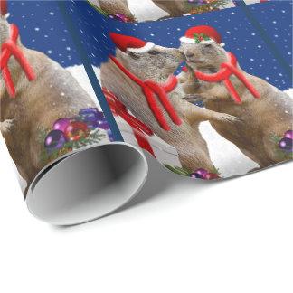Papier Cadeau Un papier d'emballage de baiser de Noël