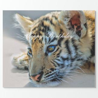 Papier Cadeau Un tigre de bébé mignon