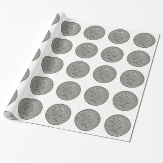 Papier Cadeau Une pièce de monnaie de livre